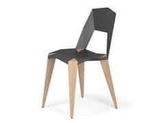 Sedia in alluminio e legno PYTHAGORAS4 - Pythagoras