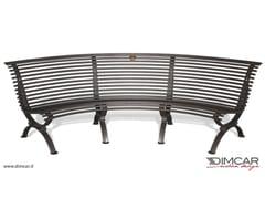 Panchina curva con seduta lato concavoPanchina Clematis seduta lato concavo - DIMCAR