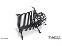 Panchina curva con seduta lato convessoPanchina Clematis seduta lato convesso - DIMCAR