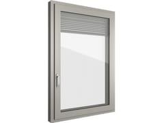 Finestra in alluminio e PVC con veneziana integrata FIN-90 Classic-line Twin C - FIN-90