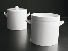 Pentola alta in ceramica con coperchioPentola - ADRIANI E ROSSI EDIZIONI