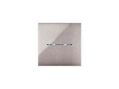 Placca in plastica bimaterialePlacca  in tecnopolimero 2C YoungTouch | Carbon Chiaro 3D - AVE