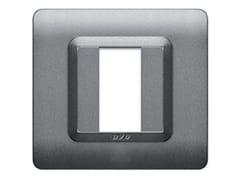 Placca in tecnopolimero lato 88 mmPlacca quadrata 88 TP 44   Argento - AVE