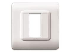 Placca in tecnopolimero lato 88 mmPlacca quadrata 88 TP 44   Bianco Ral 9010 - AVE