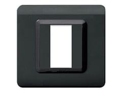 Placca in tecnopolimero lato 88 mmPlacca quadrata 88 TP 44   Grigio scuro - AVE