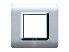 Placca in tecnopolimero per scatola tonda o quadrataPlacca quadrata TP 44 | Alluminio - AVE