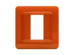 Placca in tecnopolimero per scatola tonda o quadrataPlacca quadrata TP 44   Arancione - AVE