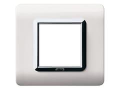Placca in tecnopolimero per scatola tonda o quadrataPlacca quadrata TP 44 | Bianco RAL 910 - AVE