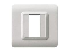 Placca in tecnopolimero per scatola tonda o quadrataPlacca quadrata TP 44   Marmo - AVE