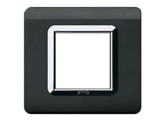 Placca in tecnopolimero per scatola tonda o quadrataPlacca quadrata TP 44 | Nero Assoluto - AVE