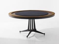 Tavolo da poker rotondo in legno e pelleTavolo da poker - DISTRICT EIGHT DESIGN CO.
