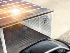 Pensilina multifunzionale con pannelli fotovoltaici per posto autoPensilina con pannelli fotovoltaici - NUOVE ENERGIE