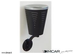 DIMCAR, Posacenere Twister a muro Posacenere per spazi pubblici da parete in acciaio