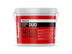 Adesivo acrilico per pavimenti in PVC, vinile, tessuti, gomma e sughero.Power Glue Duo - TORGGLER