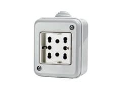 Presa elettrica impermeabile a 2 moduliSIDE IP40 - 4 BOX