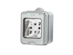 Presa elettrica impermeabile a 2 moduliSIDE IP55 - 4 BOX