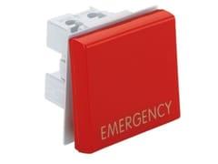 Pulsante di emergenza - 2 ModuliPulsante di emergenza rosso - AVE