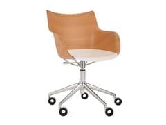Sedia girevole a 5 razze ad altezza regolabileQ/WOOD   Sedia ad altezza regolabile - KARTELL
