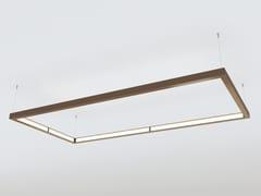 Lampada a sospensione a LED a luce diretta e indiretta in alluminioQUAD - OLEANT