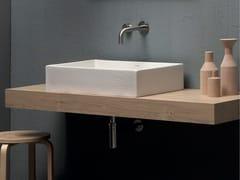 Lavabo da appoggio rettangolare in ceramicaQUADRA MACRAMÈ | Lavabo - SDR CERAMICHE