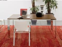 Tavolo rettangolare in acciaio e legno QUADRA XXL - Forme