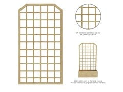 Griglia per verde verticale autoportante in legnoQUADRATO - ZURI DESIGN