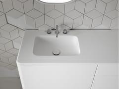 Lavabo in Corian® con piano QUADRO 45 -