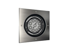 Faretto per esterno a LED orientabile da incassoQUADRO 9 - NEXO LUCE