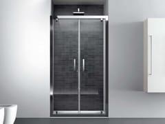 Box doccia a nicchia in vetro con porta a battenteQUADRO | Nicchia - Porta doppio battente - DISENIA