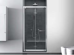 Box doccia a nicchia in vetro con porta a soffiettoQUADRO | Nicchia - Porta a soffietto - DISENIA