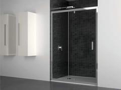 Box doccia a nicchia in vetro con porta a battenteQUADRO | Nicchia porta battente su lato - DISENIA