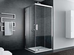 Box doccia angolare in vetro con porta scorrevoleQUADRO | Angolare - Porta ad angolo - DISENIA
