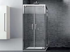 Box doccia angolare in vetro con porta a battenteQUADRO | Angolare - Doppio battente - DISENIA