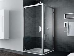 Box doccia angolare in vetro con porta a battenteQUADRO | Angolare - Porta a battente - DISENIA
