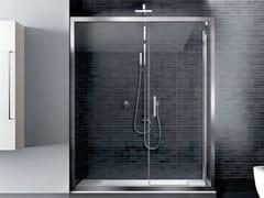 Box doccia angolare in vetro con porta a battenteQUADRO | Angolare battente apertura muro - DISENIA