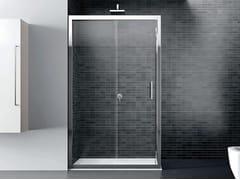 Box doccia angolare in vetro con porta scorrevoleQUADRO | Angolare - Porta scorrevole - DISENIA
