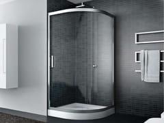 Box doccia angolare semicircolare in vetro con porta scorrevoleQUADRO | Semicircolare porta scorrevole - DISENIA