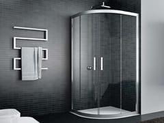 Box doccia angolare semicircolare in vetro con porta scorrevoleQUADRO | Semicircolare - 2 scorrevoli - DISENIA