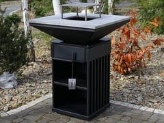 Barbecue a legna in acciaioQUADRUM BBQ VERTICAL - KRATKI.PL MAREK BAL