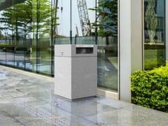 Portarifiuti in cemento con coperchio per esterniQUAI - METALCO