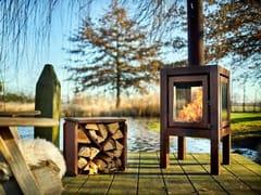 RB73, QUARUBA XL Caminetto a legna da esterno freestanding in acciaio Corten™