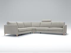 Divano angolare in tessuto a 4 posti con chaise longue QUATTRO | Divano angolare - Quattro