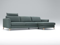 Divano imbottito in tessuto a 4 posti con chaise longue QUATTRO | Divano con chaise longue - Quattro