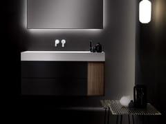 Mobile lavabo sospeso in legno con cassetti QUATTRO.ZERO | Mobile lavabo con cassetti - Quattro.Zero