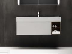 Mobile lavabo laccato sospeso con cassetti QUATTRO.ZERO | Mobile lavabo - Quattro.Zero