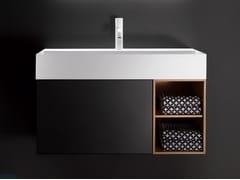 Mobile lavabo sospeso con cassetti QUATTRO.ZERO | Mobile lavabo - Quattro.Zero