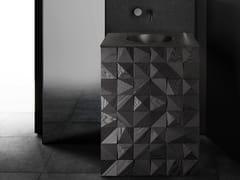 Mobile lavabo da terra singolo in legnoQUBIX VANITY - BAUTEAM