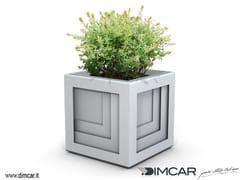 DIMCAR, Fioriera Quadrio Fioriera per spazi pubblici in metallo