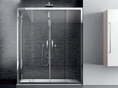 Box doccia angolare in vetro con porta scorrevoleQUADRO | Angolare - Doppio scorrevole - DISENIA