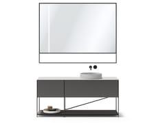 Mobile lavabo componibile in acciaio e Corian®R.I.G. MODULES - BATHROOM 02 - MA/U STUDIO